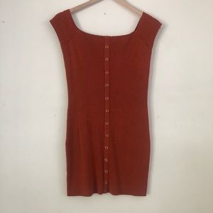 URBAN OUTFITTERS Bodycon dress - Rust